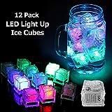 Dekoration Licht LED Eiswürfel Multicolor LED-Glühen-Licht Non Toxic Wassertauch LED Ice Cubes...