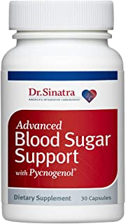 Dr. Sinatra's Advanced Blood Sugar Support with Pycnogenol Supplement, 30 Capsules (30-Day Supply)