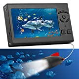 RICANK Underwater Fishing Camera, Portable 100FT Fish Finder Camera HD 1000 TVL LED Waterproof Camera 4.3 Inch LCD Monitor Handheld 30M Fish Depth Finder for Lake Sea Boat Kayak River Fishing Black