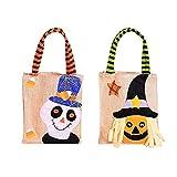 YOUYIKE®2 Paquetes de Bolsas de Regalo de Trucos o Tratos,Bolsas no Tejidas para Halloween, Bolsas...