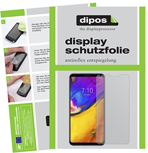 dipos I 2X Schutzfolie matt kompatibel mit LG V35 ThinQ Folie Bildschirmschutzfolie