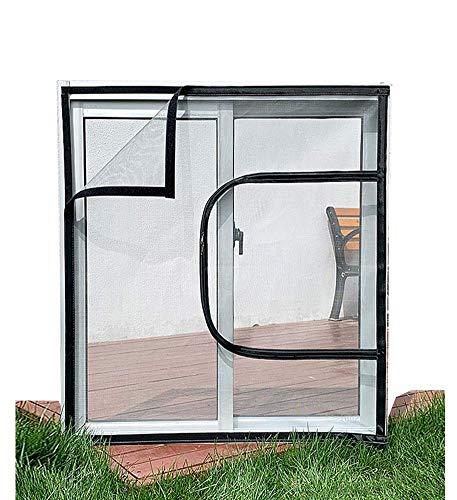 DJSC Sicherheitsnetz Treppe, Transparentes Katzenfensterschutznetz, Innenkatzenfenstersicherheitsnetz für Katzenschutz, selbstklebendes Fenstergitter mit Reißverschluss, Fliegengitter für Insekt