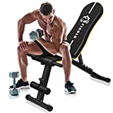 figolo Workout Bench, Adjustable Weight Bench with Wider Backrest/Seat for Full Body Workout Home Gym Strength Training Press bench with Easy Folding [2020 New Version]