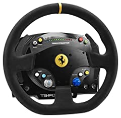"""Officially licensed by Ferrari for Windows, the TS-PC RACER Ferrari 488 Challenge Edition's wheel is a 9:10 scale replica of the Ferrari 488 Challenge wheel and measures 12.6""""/32 cm in diameter. With a brushless Force Feedback system, a very responsi..."""