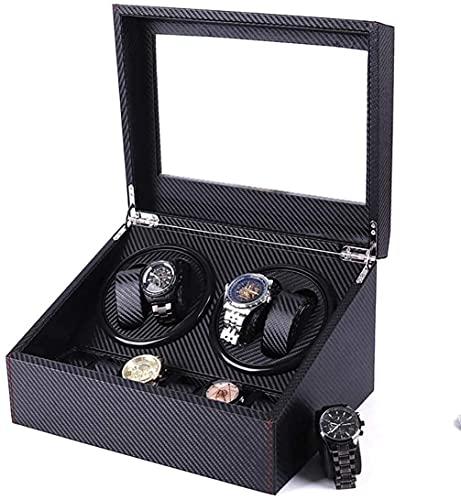 LLSS Watch Winder Automatic with Quiet AC Adapter Or Powered Black Watch Winder, Automatic Watch Winder Box
