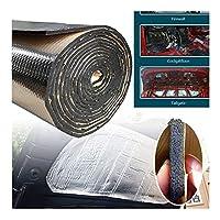 Easy to install 5ミリメートル車のトラック防音消音マットファイアウォール断熱オーディオノイズインシュレータ耐熱サウンドサーマルプルーフパッド25 * 50cmの