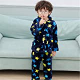 Winter Children's Fleece Pajamas Warm Flannel Pajamas Girls Cartoon Coral Fleece Children's Pajamas Home Clothes Boys Pajamas