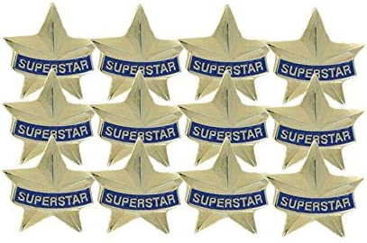 3/4 Inch Superstar Lapel Pin - Package of 12, Poly Bagged