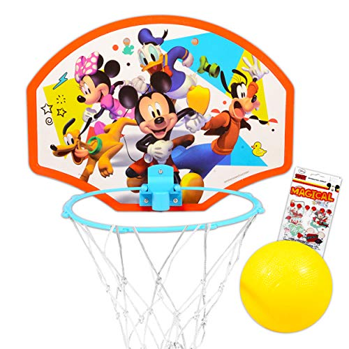 Disney Shop Premium Mickey Mouse Toys Mickey Mouse and The Roadster Racers Basketball Hoop for Toddlers Kids with Mickey Mouse Stickers