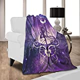 CARSLEY Anime Blanket Sai-lor Mo-on Ultra-Soft Micro Fleece Throw Blankets for Couch, Bed, Sofa Luxurious Warm Lightweight Blanket for All Seasons 50'X40'