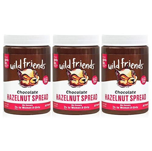Wild Friends Foods Chocolate Hazelnut Spread, Gluten-Free, Non-GMO, Palm Oil Free, Vegan, 3 Count,...