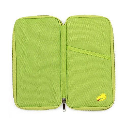 Organizador de documentos para viaje Q4travel. Resistente e impermeable. Portadocumentos, protector para pasaporte y cartera -, verde (Verde) - 10455848