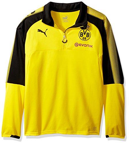 Puma - Camiseta para Hombre, BVB 1/4 - Camiseta de Entrenamiento con Logo de patrocinador, Hombre, Color Cyber Amarillo/Puma Negro, tamaño XL