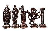 GiftHome (Sólo 32 Piezas) Royal Medieval British Army Metal Antiguo Metal Piezas de ajedrez Hechas a Mano (sin Tabla)