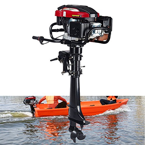 Buy RanBB Outboard Motor, 7HP 4 Stroke Outboard Motor 196CC Fishing Boat Engine with Air Cooling Sys...
