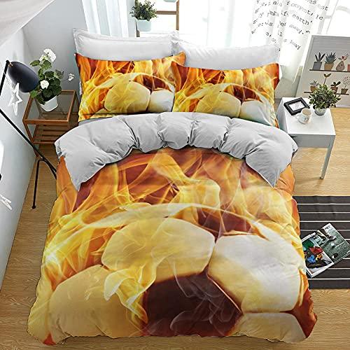 Bedclothes-Blanket Copripiumino per Culla,Kit di Stampa Digitale 3D a Tre Pezzi-2_270 * 233 cm.