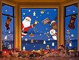 Yuson Girl Weihnachten Aufkleber Fenster Weihnachtsmann Elch Schneemann Abnehmbare Weihnachten Deko Wandtattoo Weihnachten Statisch Haftende PVC Aufkleber - 3