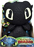 Dreamworks Dragons, Squeeze & Growl Toothless, 10-Inch Plush Dragon with Sounds, for Kids Aged 4 and Up