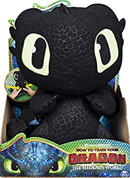 Dreamworks Dragons Squeeze & Growl Toothless 10-Inch Plush Dragon with Sounds for Kids Aged 4 and Up