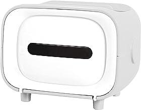 MERIGLARE Caixa de Tecido Criativo Armazenamento de Guardanapos Caixa de Papel Sucção Magnética com Suporte de Telefone Ar...