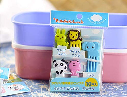 LINSUNG Animal Manor Cute Mini Kinder Obstgabel Creative Plastic