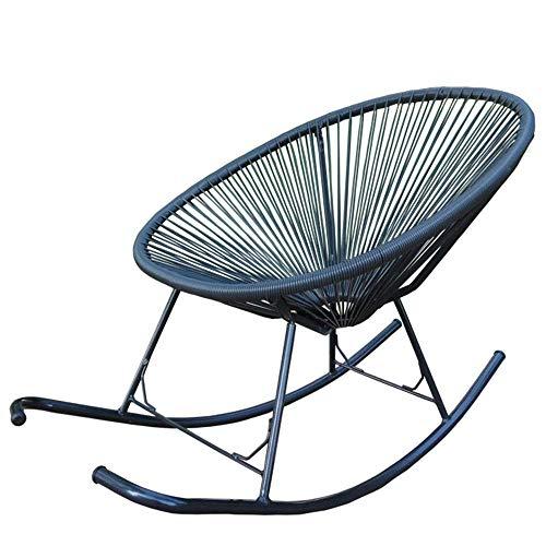 Loungesessel Älterer Stuhl Erwachsener Stuhl Mittagspause Stuhl Schaukelstuhl Rattanstuhl Balkon Freizeitstuhl Schaukelstühle für Erwachsene Braun