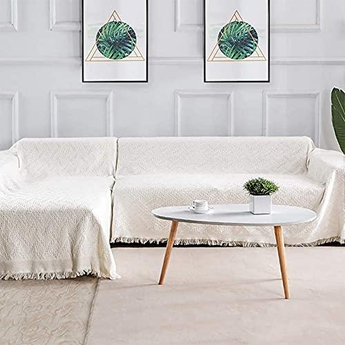 Sofa Überwürfe Sofabezug , 2er Set Sofabezüge Modell L Ecksofabezüge Sofastuhl Wohnzimmer Home(Chaiselongue mit 2 Sitzer, Beige)