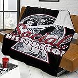 Social Distortion Fleece Blanket Fuzzy Soft Cozy Blanket Microfiber 3D Printing Fleece Throw Blanket for Couch Sofa Or Bed 50'X40'