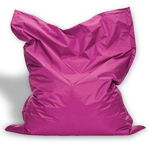 Sitzsack XXL Riesensitzsack 140 x 180 cm mit Füllung In & Outdoor Sitzsäcke Sessel Kissen Sofa Hocker Sitzkissen Bodenkissen (ca.180x140cm, Pinkrosa)