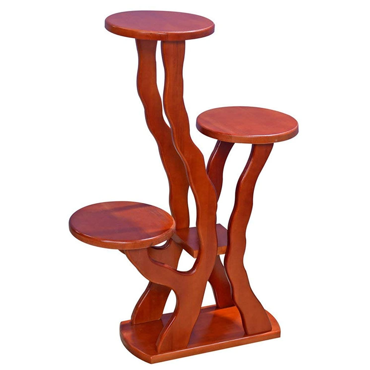Plant Display Stand, Solid Wood Flower Stand Floor Type Multi Level High and Low Bonsai Balcony Living Room Indoor and Outdoor Flower Pot Rack (Color : C)