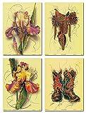 Impact-Poster Galerie Wanddekoration, Bunte Tulpenblumen,