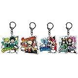 AMA-StarUK36 My Hero Academia Acrylic Keychain Set Cartoon Cute Character Pendant Cartoon Anime Manga Creative Collection Gift Bag Decoration(4pcs)