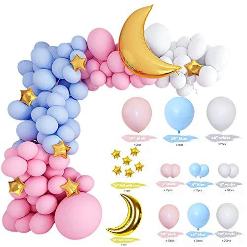 knowledgi Juego de guirnalda de globos, macarons, arco para globos, accesorios para fiestas, bodas, fiestas de cumpleaños, decoración