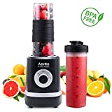 Personal Blender, Portable Smoothies Blender Single Serve Small Mixer Maker for Shakes Frozen Fruit...