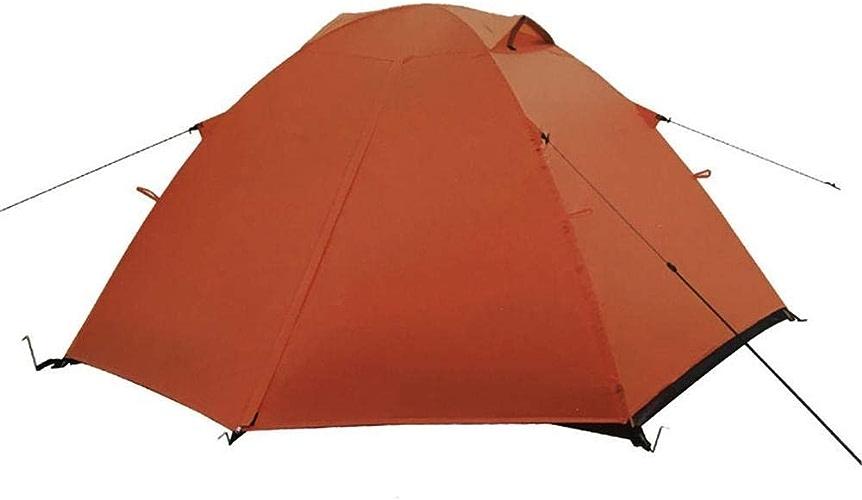 YANGDONGLI Tente De Plage du Malawi Tente Extérieure De Famille De Sac à Dos Imperméable De Double Peau De Camping Extérieur,Orange