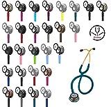 3M Littmann Classic III Stethoskop MIT GRAVUR (verschiedene Farben) (Rainbow-Schwarz)