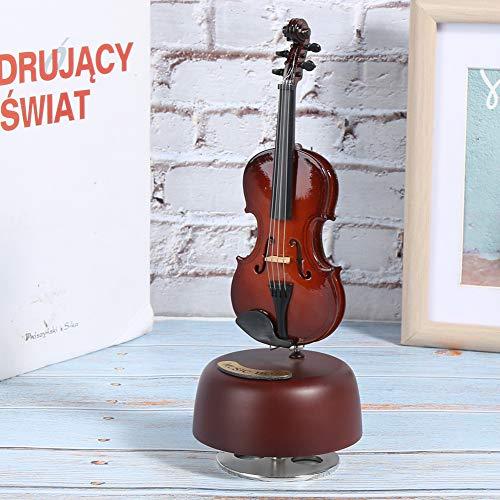 ROMACK Decoración de Mesa, Arte de Caja de música con Forma de violín, para Amantes de la música(Violin, Blue)