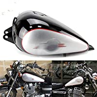 カバーとモールディング オートバイの燃料ガスタンク3.4ガロンの黒いフィットホンダ逆転250 CMX 250 CMX250 1985-2016 バイク部分