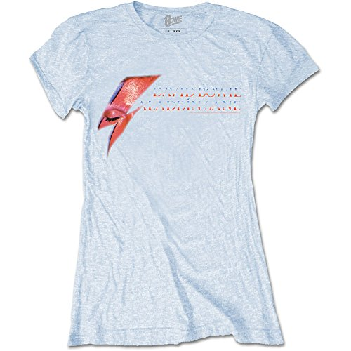 Rockoff Trade David Bowie Aladdin Sane Eye Camiseta, Blanco, M para Mujer