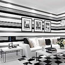 decoraci/ón no tejido Papel pintado de rayas verticales y modernos sala de estar liso 9,5 m x 0,53 m YUKANGI hotel color marr/ón para rec/ámara