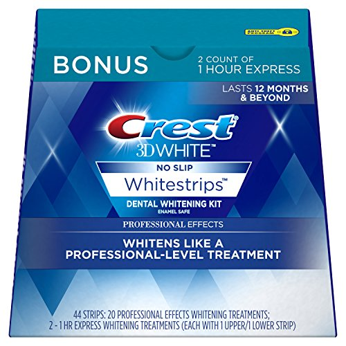 Crest 3D White Professional Effects Whitestrips Dental Teeth Whitening Strips Kit, 20 Treatments + BONUS 1 Hour Express Whitening Strips, 2 Treatments