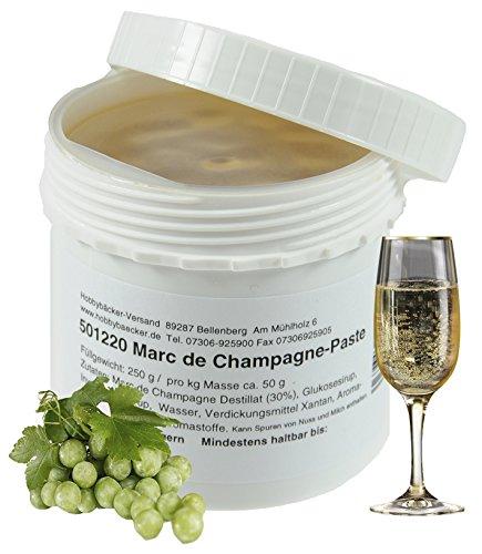 Hobbybäcker Marc-De-Champagne-Paste ► Zum Verfeinern von Eis, Pralinen, Desserts & Tortencremes, Feine Aromapaste, 250g