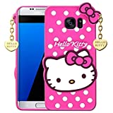 Avianna Samsung Galaxy S6 Edge Hello Kitty Back Cover Soft Silicon Girls Case 3D Printed with Heart...