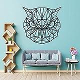 wZUN Pegatinas de Pared de Animales geométricos búho calcomanías de Vinilo decoración de la habitación de los niños decoración Abstracta del hogar extraíble 28X29 cm