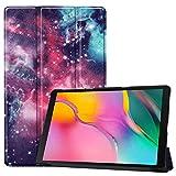 HoYiXi Custodia per Samsung Galaxy Tab A 10.1 2019 Ultra Sottile Case in pelle Smart Cover con Supporto Funzione Custodia di Tablet per 10.1 Pollici Galaxy Tab A 2019 T510/T515 - Galassia