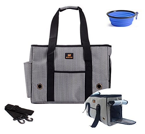 Hubulk Pet Dogs Cats Carrier Airline Approved Travel Outdoor Bag Portable Dog Purse Soft Comfort Oxford Tote Handbag, Free Collapsible Dog Bowl Included