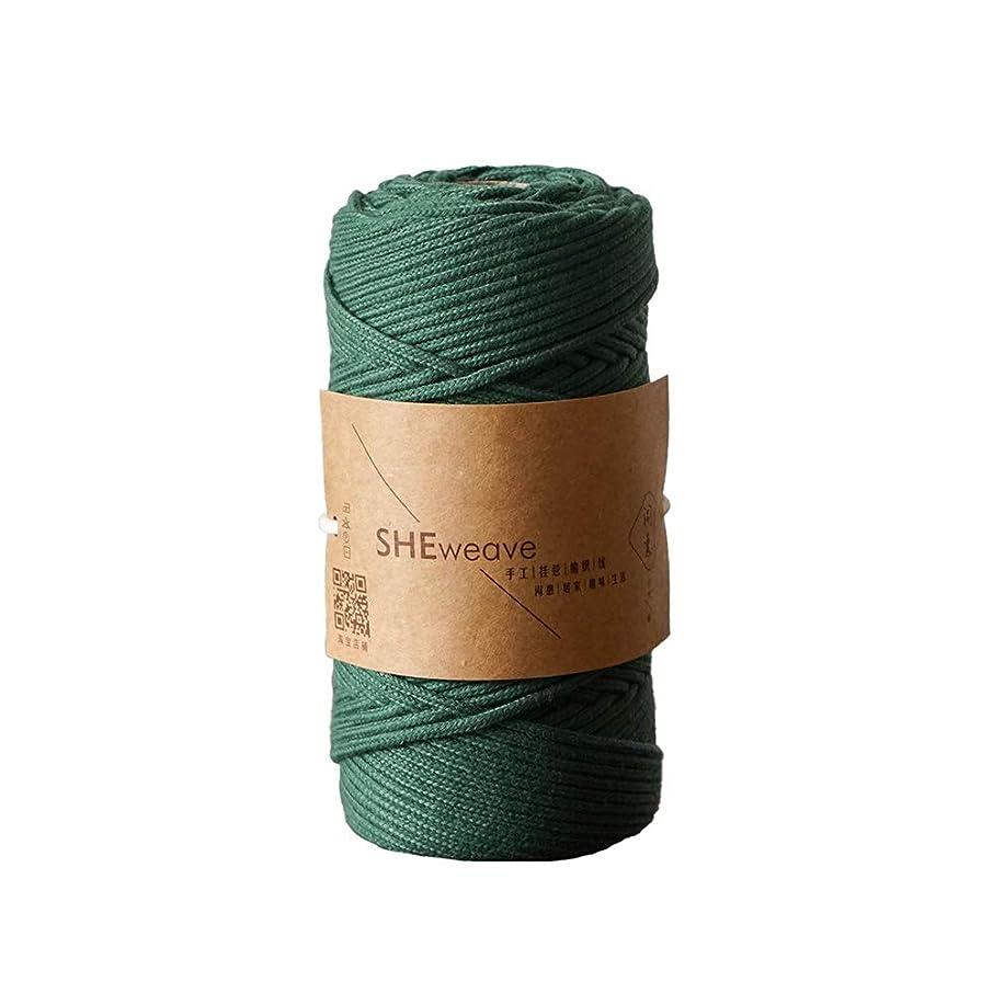 Macrame Cord, Macrame Yarn 3mm,Macrame String for Handmade Plant Hanger Wall Hanging Craft Making (DarkGreen, 3mm x 100m(About 109 yd))