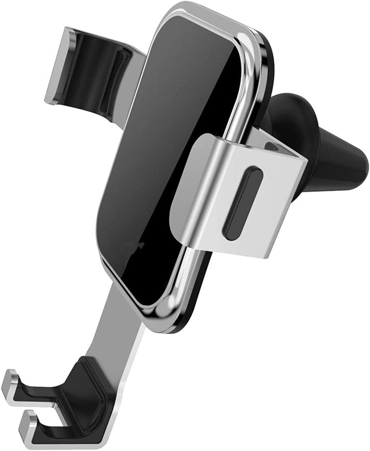 Metal Gravity Car Phone Holder 360° redating Air Outlet Mobile Navigation Bracket for iPhone Xr, Xs, X, Samsung Note 9, S9, Huawei, Sony, HTC