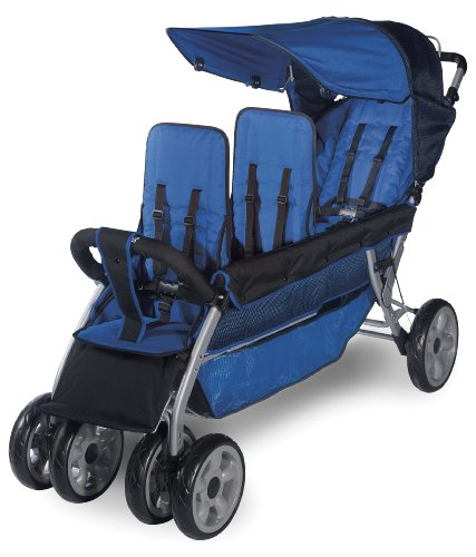 Foundations Worldwide Foundations Regette Blue 3 Passenger Stroller, LX3