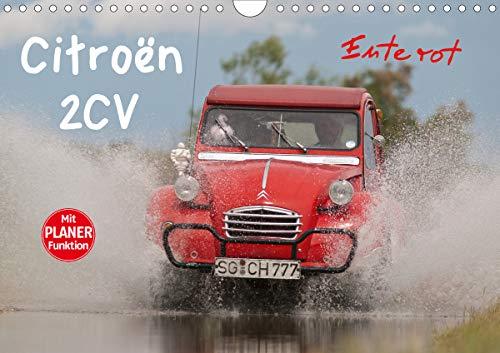 Citroën 2CV - Ente rot (Wandkalender 2021 DIN A4 quer)